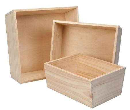 Basket -sloped solid sides