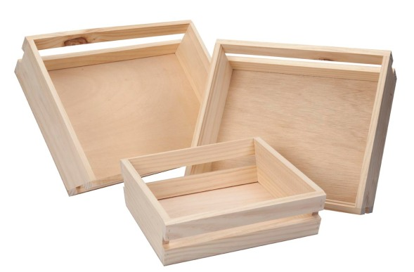 Hamper - slatted sloped sides