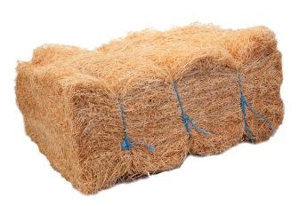 Wood wool bale